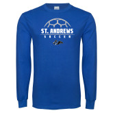 Royal Long Sleeve T Shirt-St. Andrews Soccer Half Ball
