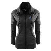 Ladies Sport Wick Stretch Full Zip Black Jacket-Primary Logo