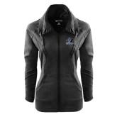 Ladies Sport Wick Stretch Full Zip Black Jacket-Primary Logo