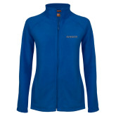 Ladies Fleece Full Zip Royal Jacket-Knights Word Mark