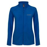 Ladies Fleece Full Zip Royal Jacket-Knights Word Mark