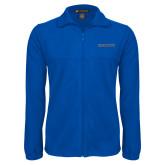 Fleece Full Zip Royal Jacket-Knights Word Mark