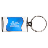 Silverline Blue Wave Key Holder-Primary Logo Engraved
