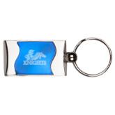 Silverline Blue Wave Key Holder-Primary Logo Engraved