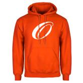 Orange Fleece Hoodie-O Logo