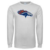 White Long Sleeve T Shirt-SUNY Orange Colt