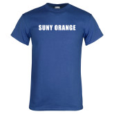 Royal T Shirt-SUNY Orange Word Mark