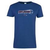 Ladies Royal T Shirt-Baseball Design