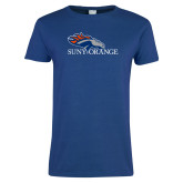 Ladies Royal T Shirt-SUNY Orange Colt Logo