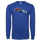 Royal Long Sleeve T Shirt-SUNY Orange Colt