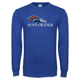 Royal Long Sleeve T Shirt-SUNY Orange Colt Logo