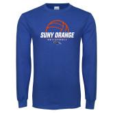 Royal Long Sleeve T Shirt-Volleyball Design
