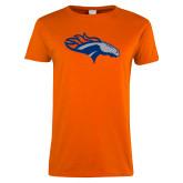 Ladies Orange T Shirt-SUNY Orange Colt