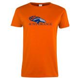 Ladies Orange T Shirt-SUNY Orange Colt Logo