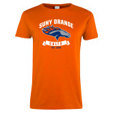 Ladies Orange T Shirt-SUNY Orange Colts Graphic