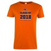 Ladies Orange T Shirt-Class of Design, Personalized year