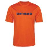 Performance Orange Heather Contender Tee-SUNY Orange Word Mark
