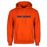 Orange Fleece Hoodie-SUNY Orange Word Mark