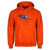 Orange Fleece Hoodie-Volleyball
