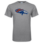 Grey T Shirt-SUNY Orange Colt