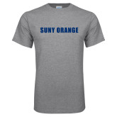 Grey T Shirt-SUNY Orange Word Mark