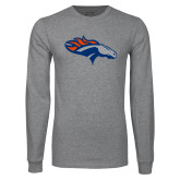 Grey Long Sleeve T Shirt-SUNY Orange Colt