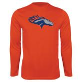Performance Orange Longsleeve Shirt-SUNY Orange Colt