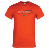 Orange T Shirt-Baseball Design