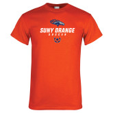 Orange T Shirt-Soccer Design