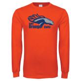 Orange Long Sleeve T Shirt-Primary Logo