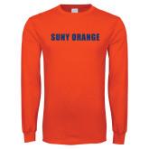 Orange Long Sleeve T Shirt-SUNY Orange Word Mark