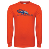 Orange Long Sleeve T Shirt-SUNY Orange Colt Logo