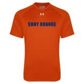 Under Armour Orange Tech Tee-SUNY Orange Word Mark