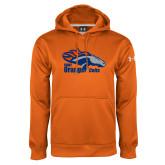 Under Armour Orange Performance Sweats Team Hoodie-Primary Logo