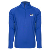 Sport Wick Stretch Royal 1/2 Zip Pullover-Primary Logo