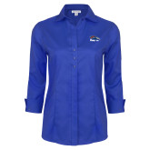 Ladies Red House French Blue 3/4 Sleeve Shirt-Primary Logo