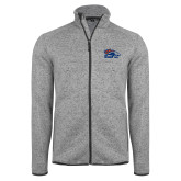 Grey Heather Fleece Jacket-Primary Logo