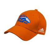 Adidas Orange Structured Adjustable Hat-Primary Logo