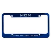 Mom Metal Blue License Plate Frame-Mom