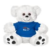 Plush Big Paw 8 1/2 inch White Bear w/Royal Shirt-Primary Logo