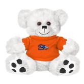 Plush Big Paw 8 1/2 inch White Bear w/Orange Shirt-Primary Logo