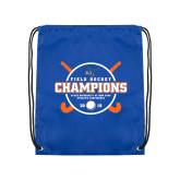 Royal Drawstring Backpack-2018 SUNYAC Field Hockey Champions