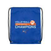 Royal Drawstring Backpack-2018 SUNYAC Volleyball Champions