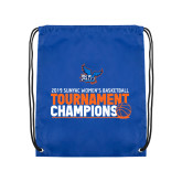 Royal Drawstring Backpack-2019 Womens Basketball Conference Champions