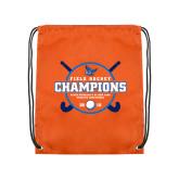 Orange Drawstring Backpack-2018 SUNYAC Field Hockey Champions