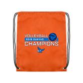 Orange Drawstring Backpack-2018 SUNYAC Volleyball Champions