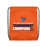 Orange Drawstring Backpack-2019 Womens Basketball Conference Champions