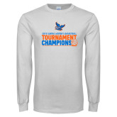 White Long Sleeve T Shirt-2019 Womens Basketball Conference Champions