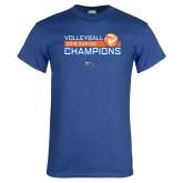 Royal T Shirt-2018 SUNYAC Volleyball Champions