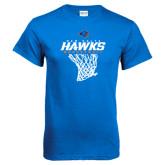 Royal T Shirt-Hawks Basketball w/ Hanging Net